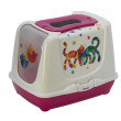 McMac Trendy Cat Friends Forever Litter Box - Hot Pink
