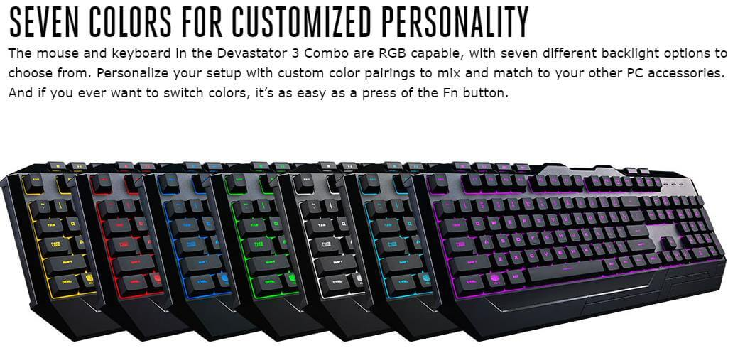 CoolerMaster Devastator 3 RGB Gaming Keyboard & Mouse Combo