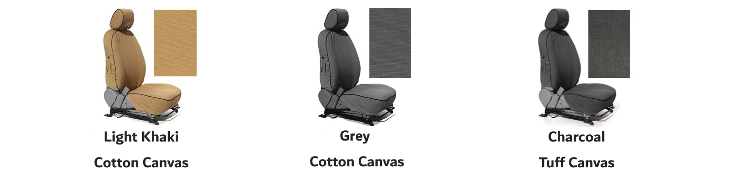 Escape Gear Seat Covers - Available Colours